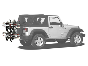 Jeep Wrangler Snow Board Rack