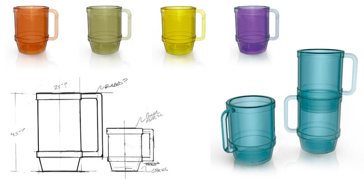 Drinking cup rendering