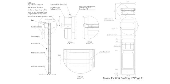 Media Display Kiosk for Triminator -